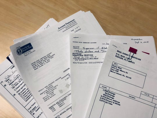 Marco Island City Council incumbent Victor Rios provided the Marco Eagle all invoices, deposit slips, bank statements and the check register for his account.