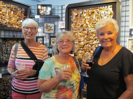 Friends Judy Hattendorf, Barb Schifano and Gerry Jones enjoying the celebration.