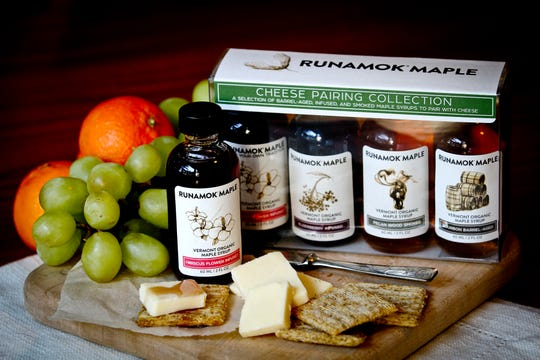 Runamok has a cheese pairing collection of its maple syrups with suggested matchups.