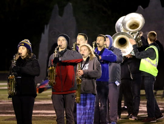 Under a full moon and during an Oct. 23 rehearsal of its show with district eighth grade students, the Greendale Marching Band learned it was one of 20 bands accepted to perform in the 2020 Pasadena Tournament of Roses parade.