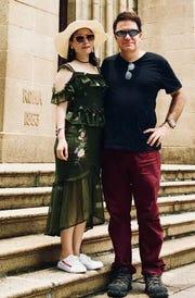 Yang Yuan Yuan, also known as Fiona Yang, and Christopher Carson