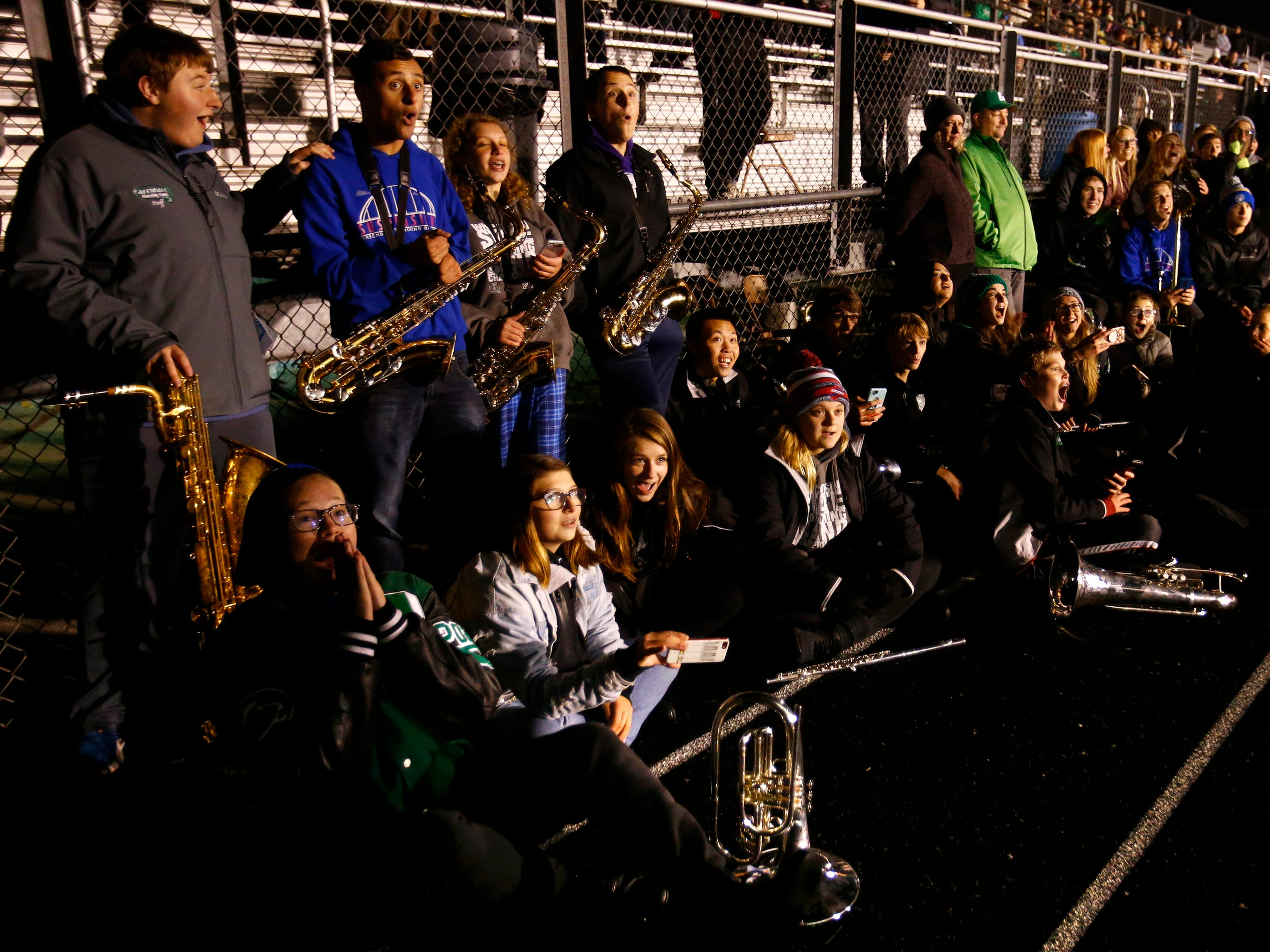 During an Oct. 23 rehearsal of its show with district eighth grade students, the Greendale Marching Band learned it was one of 20 bands accepted to perform in the 2020 Pasadena Tournament of Roses parade.