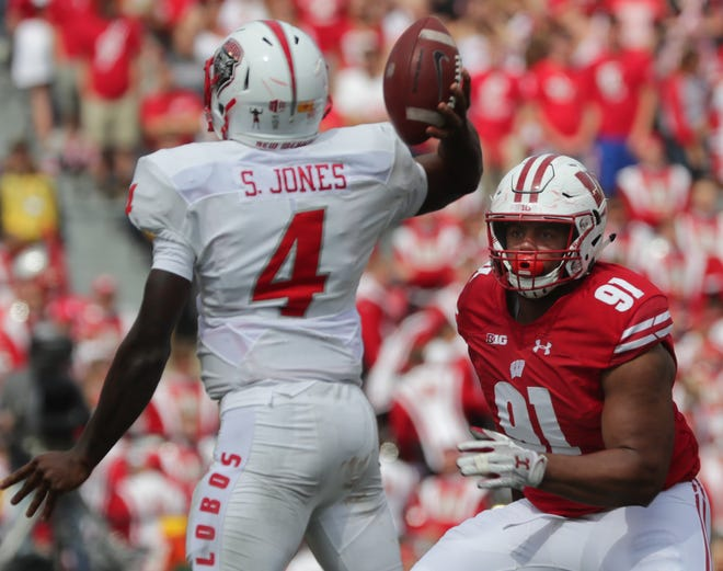 Wisconsin freshman nose tackle Bryson Williams has played in all seven games and recorded five tackles.