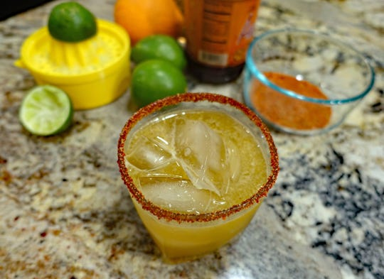 The Sugarbush Margarita includes maple syrup in the drink and maple sugar in the coating for the rim of the glass.