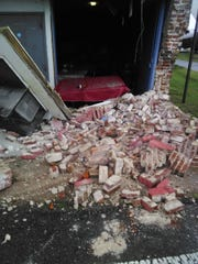 An 18-wheeler clipped the corner of the Community Soup Kitchen early on Oct. 16.