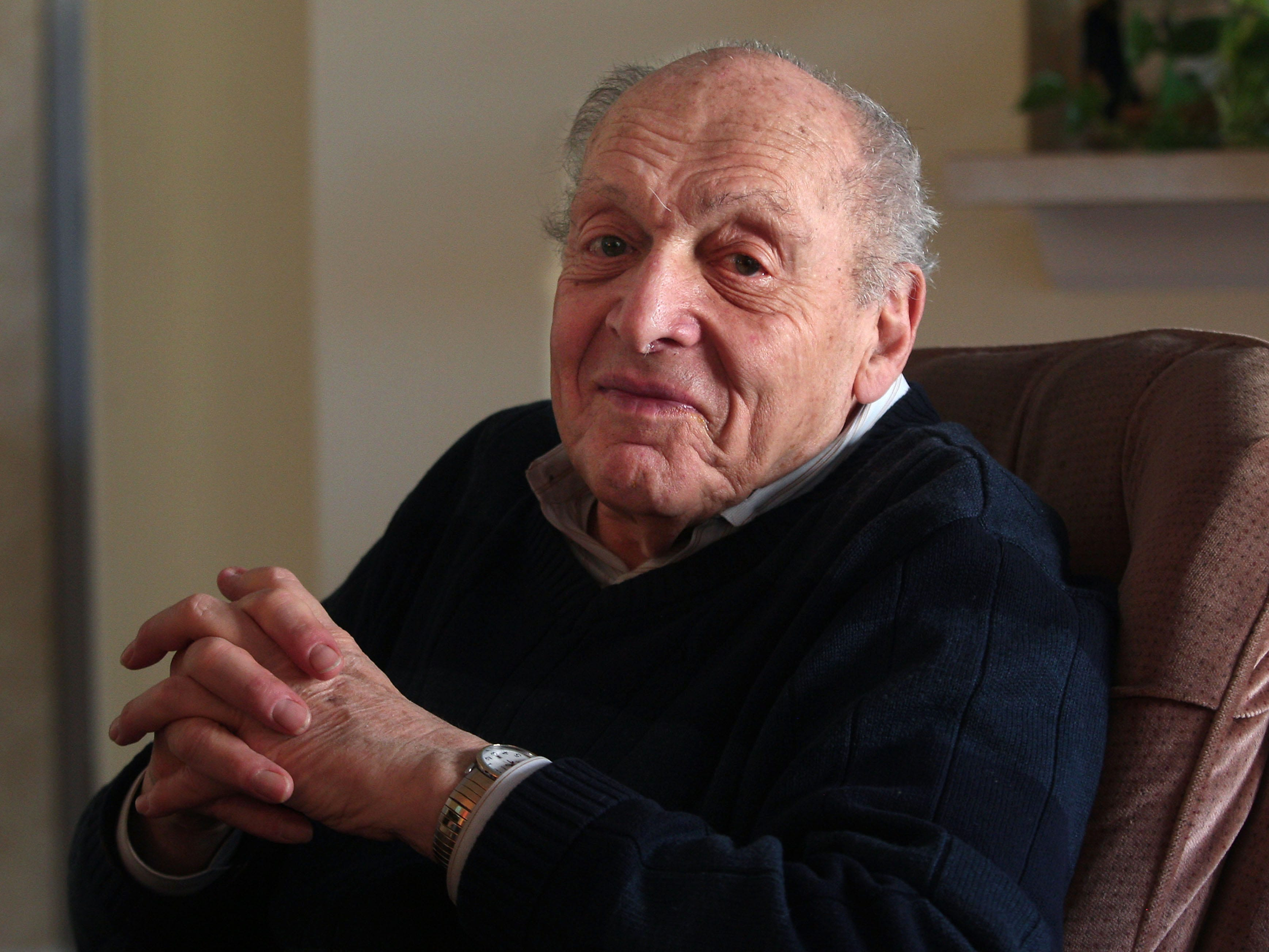 "Harry Ettlinger one of only five surviving ""Monuments Men,"" individuals who saved billions of dollars' worth of fine art and cultural artifacts that were stolen by the Nazis during WWII. January 24, 2014, Rockaway, NJ, Staff Photographer/Bob Karp MOR 0124 Rockaway Monuments Men"