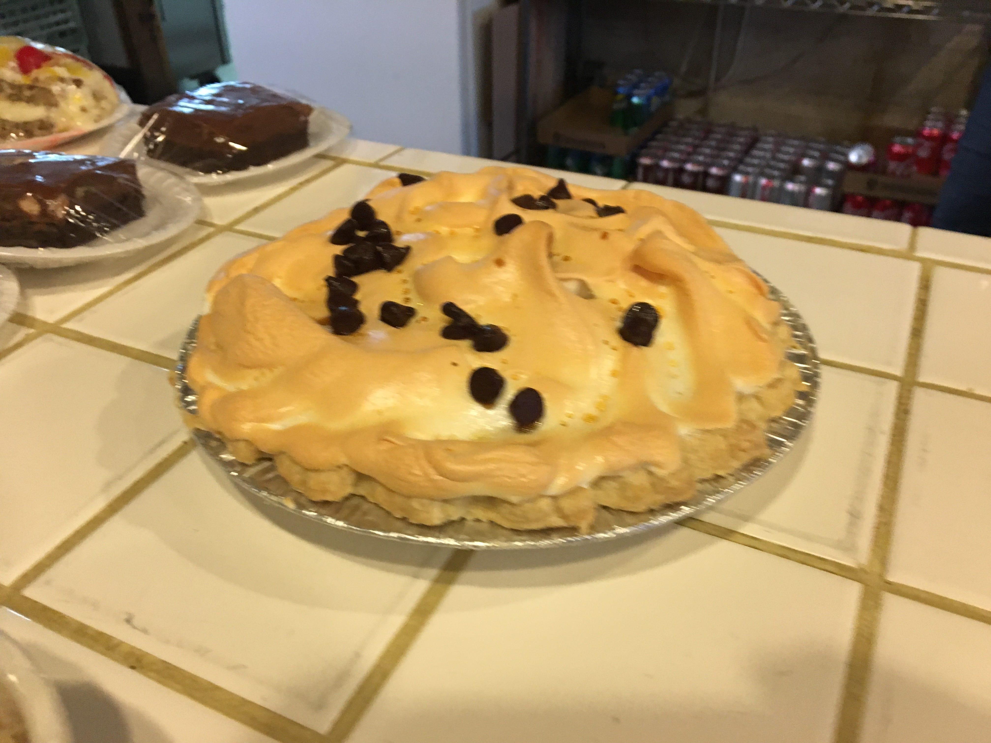 Word has it that the Miller's Grocery chocolate meringue pie is as good as Grandma's.