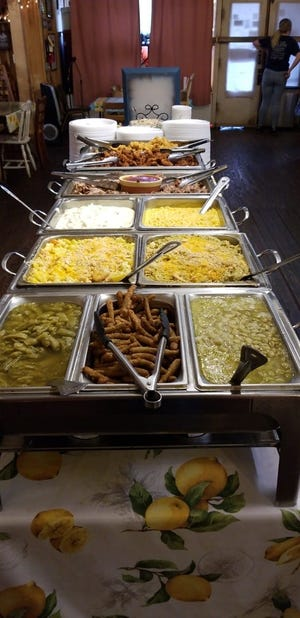 Sunday buffet is a popular draw at Miller's Grocery in Christiana.
