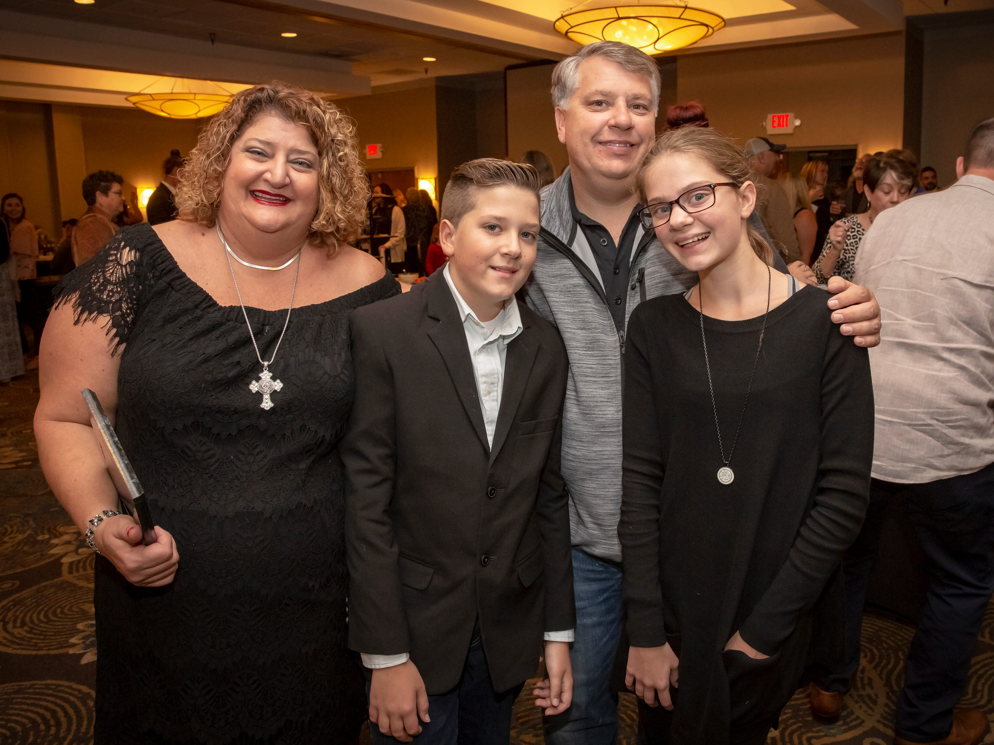 Camille, Jason, Charlie and Lily Arkenberg at the 24th annual Ruthie awards held at DoubleTree on Old Fort Parkway.