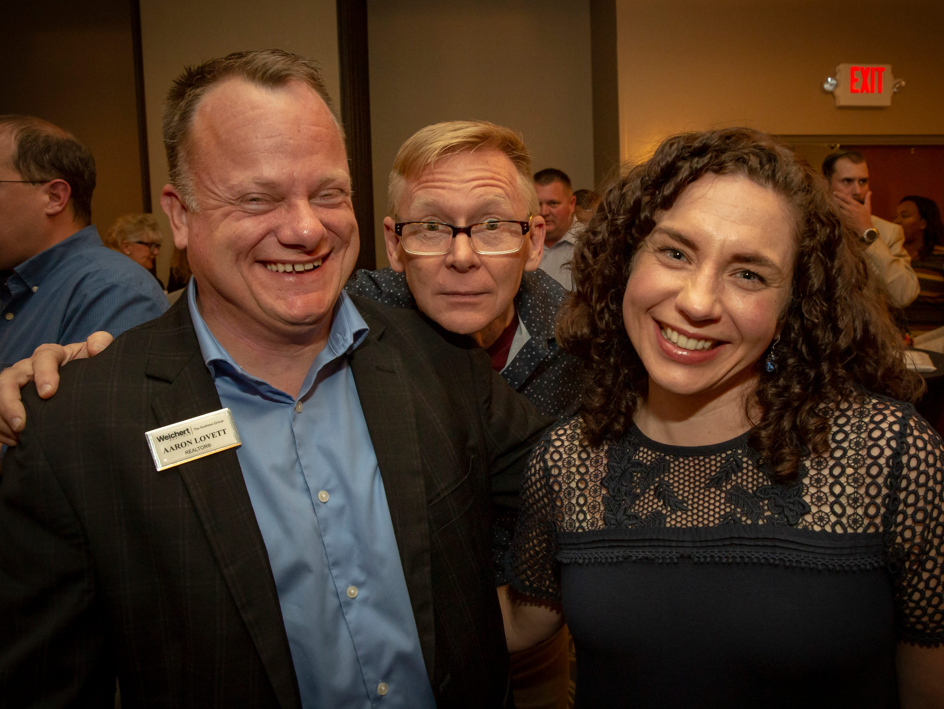Aaron Lovett, Ron Alley and Debbie Lovett at the 24th annual Ruthie awards held at DoubleTree on Old Fort Parkway.