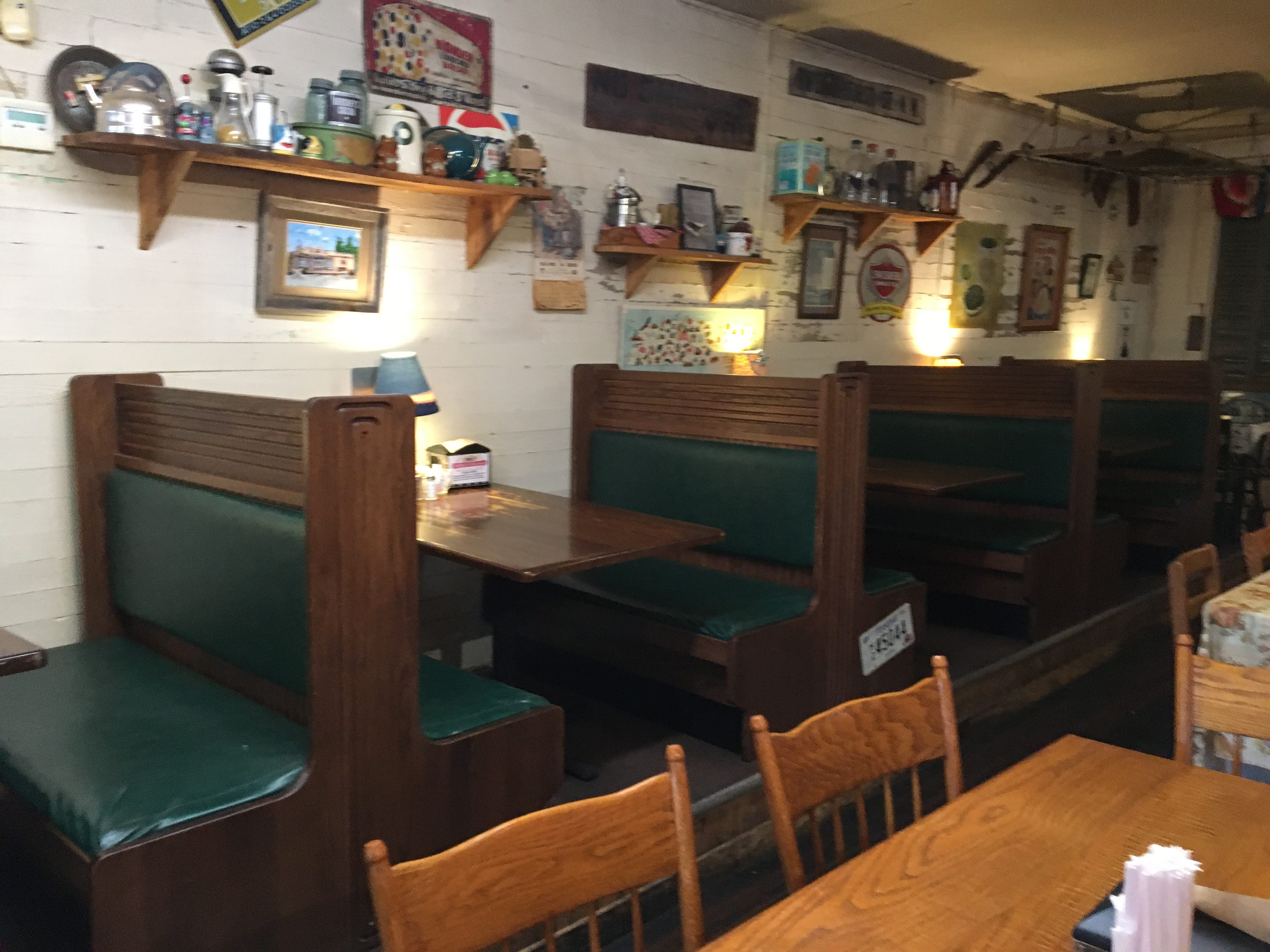 Walls of Miller's Grocery are decorated with memorabilia from days gone by, creating a homey feel like you'd have at Grandma's, owner Lara Phillips said.