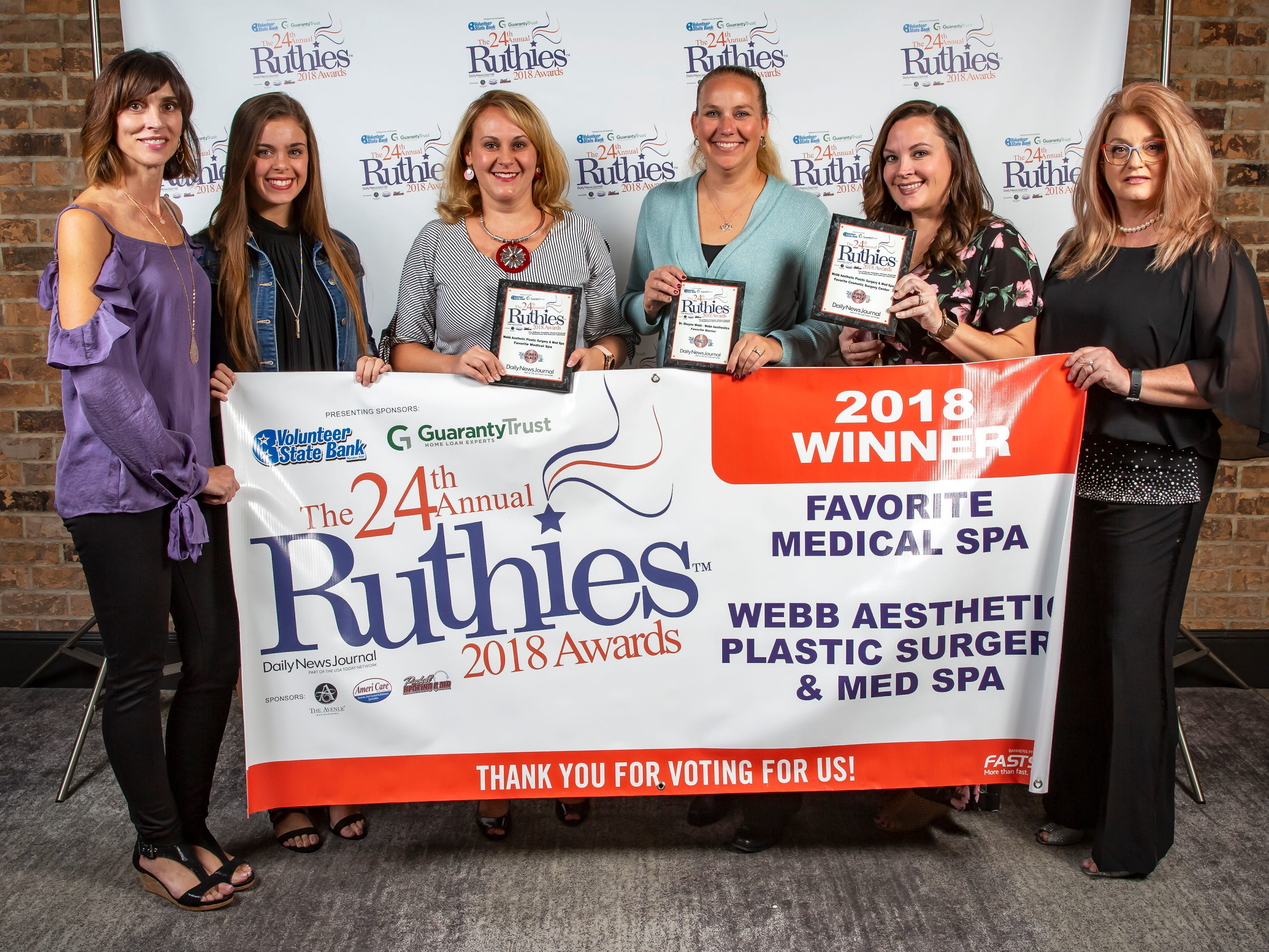 The 24th annual Ruthies Awards were held Tuesday, Oct. 23, 2018 at the DoubleTree Hotel in Murfreesboro