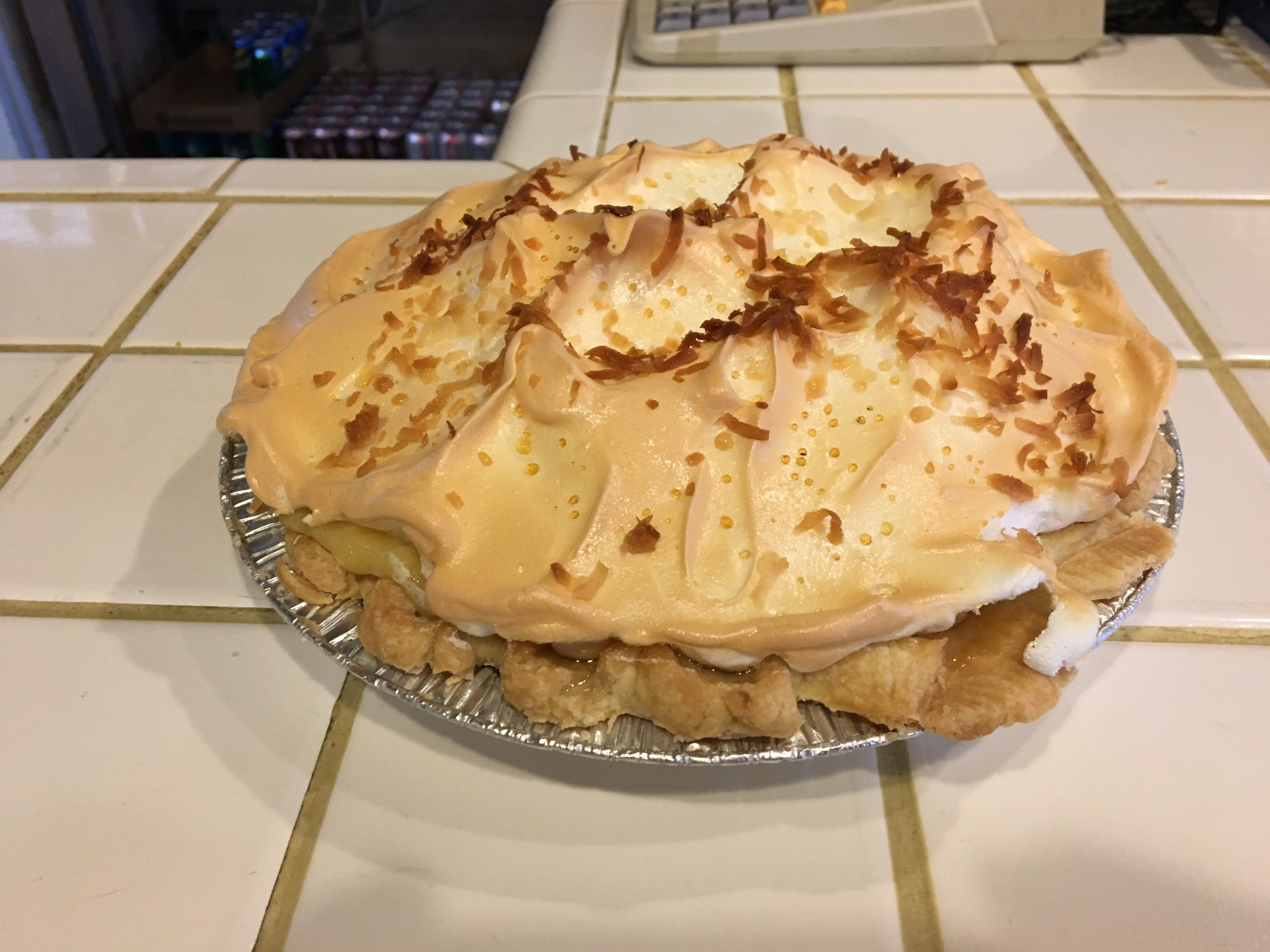 Coconut cream pie goes quick at Miller's Grocery in Christiana.
