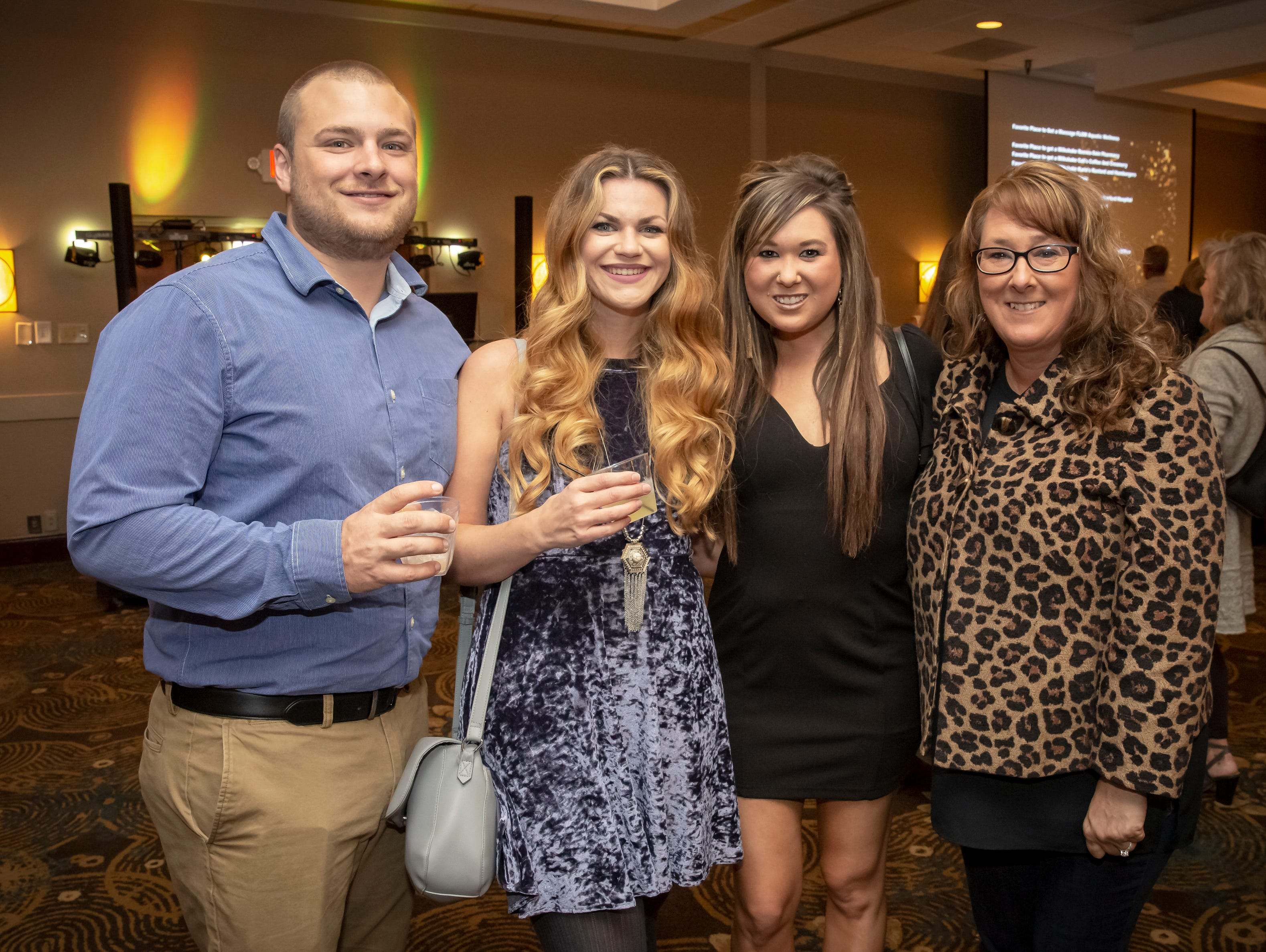Gage Estes, Kristina Estes, Ashley Lewis and Carla Lewis at the 24th annual Ruthie awards held at DoubleTree on Old Fort Parkway.