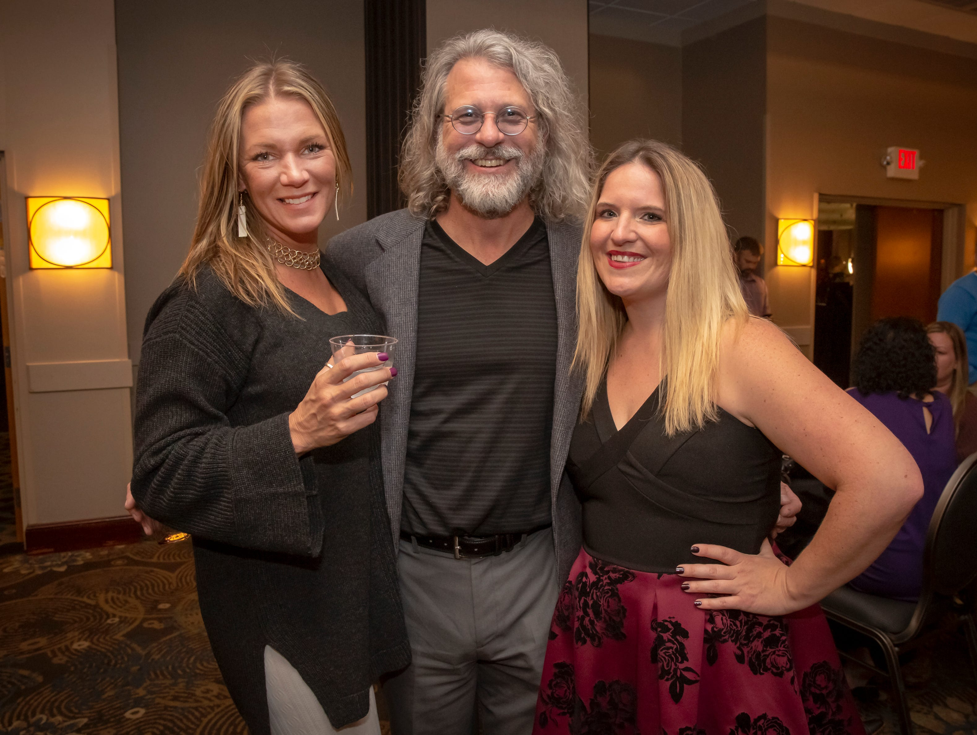 Kristen Ray, Ozzy Nelson and Ariana Vanderburgh at the 24th annual Ruthie awards held at DoubleTree on Old Fort Parkway.