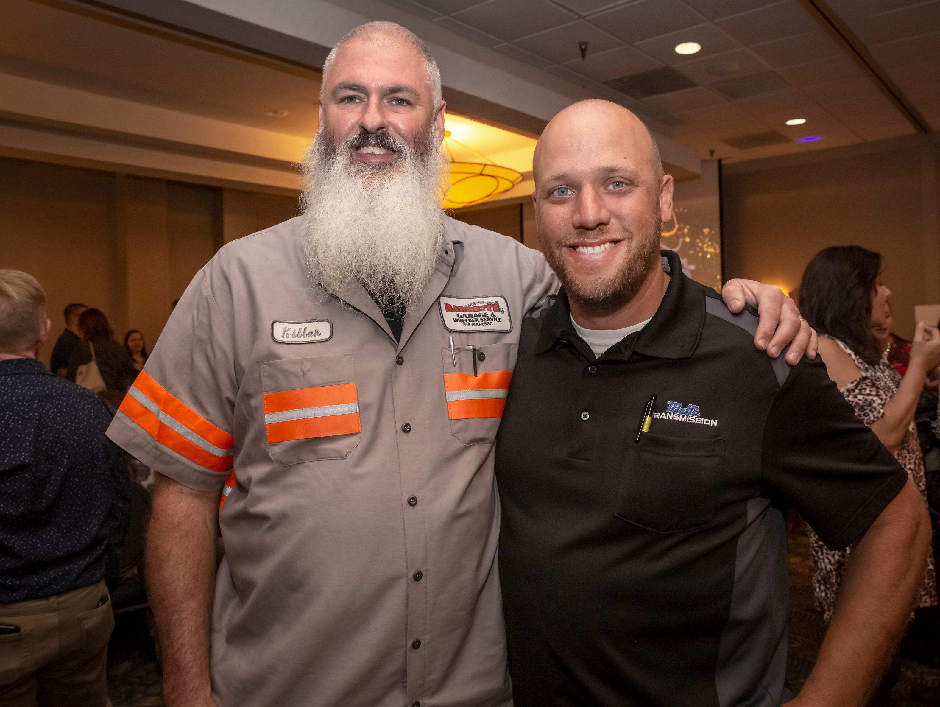 Mike Pruitt and Matt Brabender at the 24th annual Ruthie awards held at DoubleTree on Old Fort Parkway.