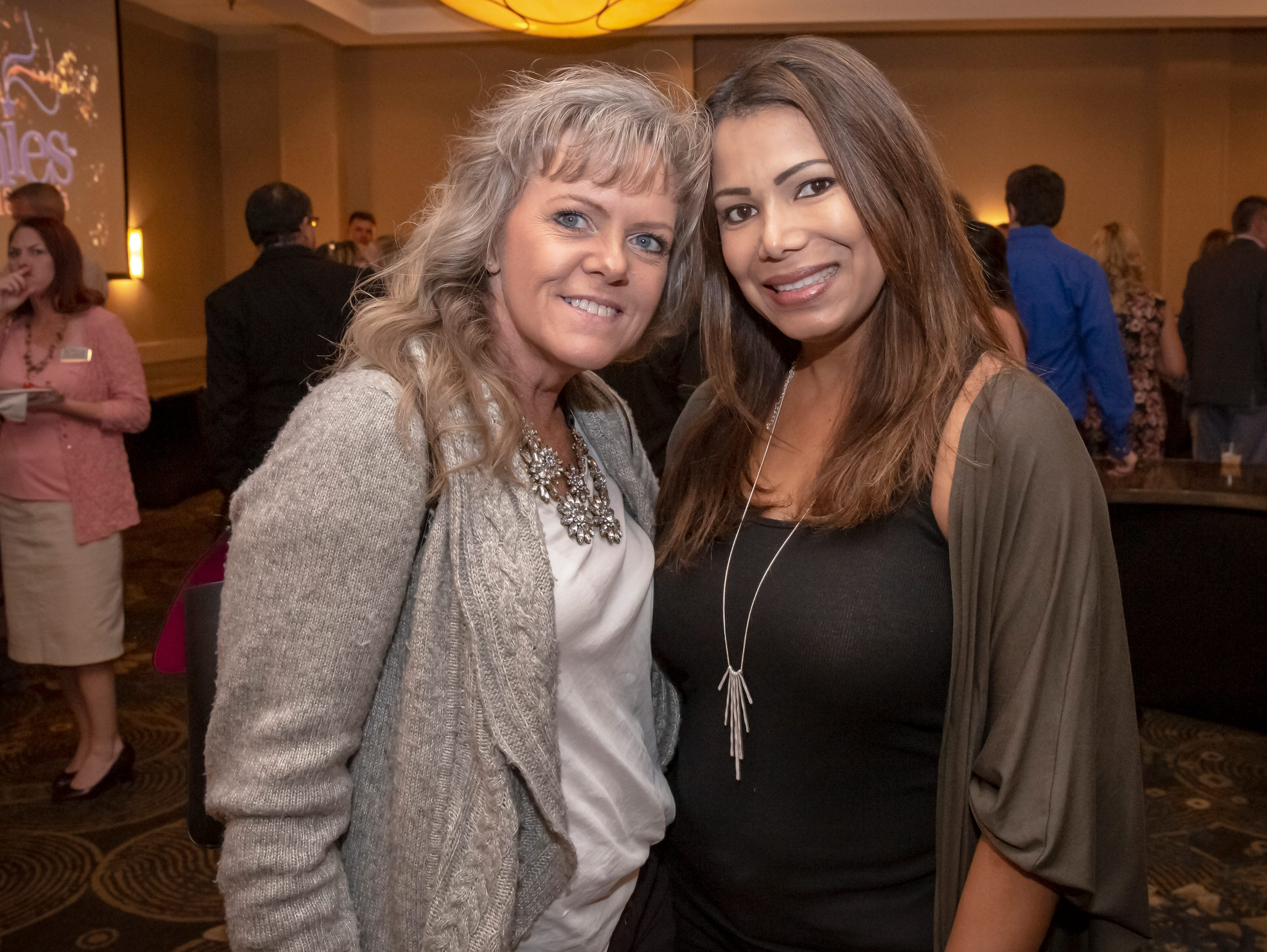 Susan Arrington and Miriam Miller at the 24th annual Ruthie awards held at DoubleTree on Old Fort Parkway.