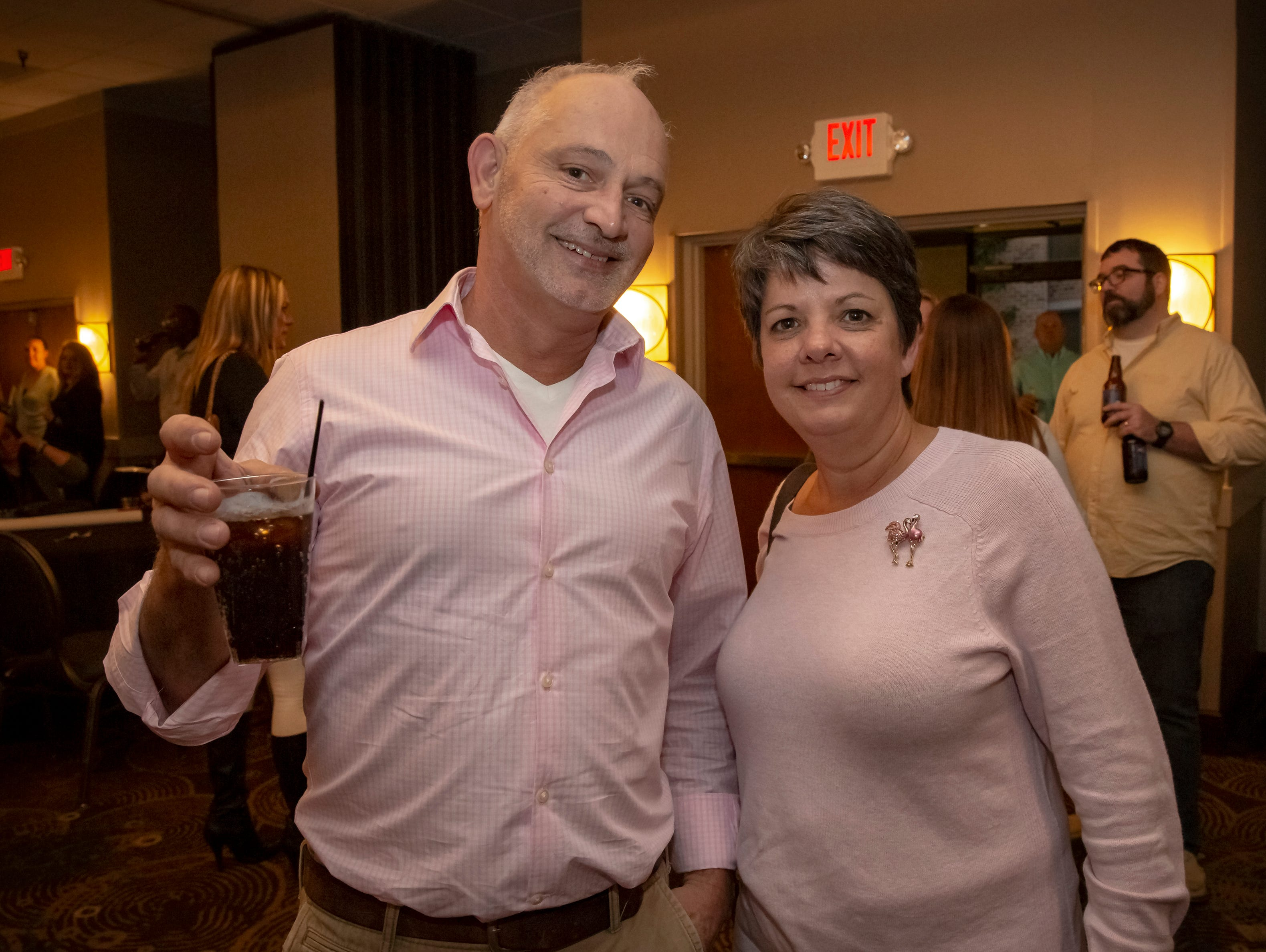 Darrell Isabell and Rita Robertson at the 24th annual Ruthie awards held at DoubleTree on Old Fort Parkway.