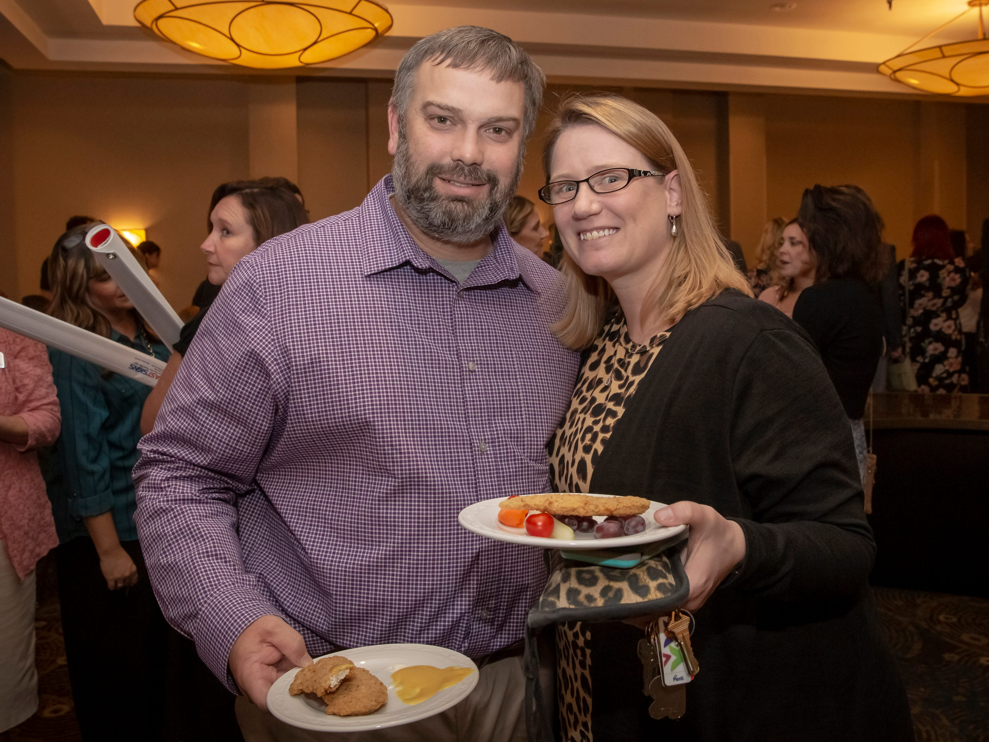 Jason and Rachel Gray at the 24th annual Ruthie awards held at DoubleTree on Old Fort Parkway.