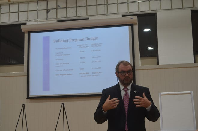 Sumner County Director of Schools Del Phillips proposes two stages of rezoning and a $99 million new school cluster to alleviate overcrowding of schools and prepare for more growth.