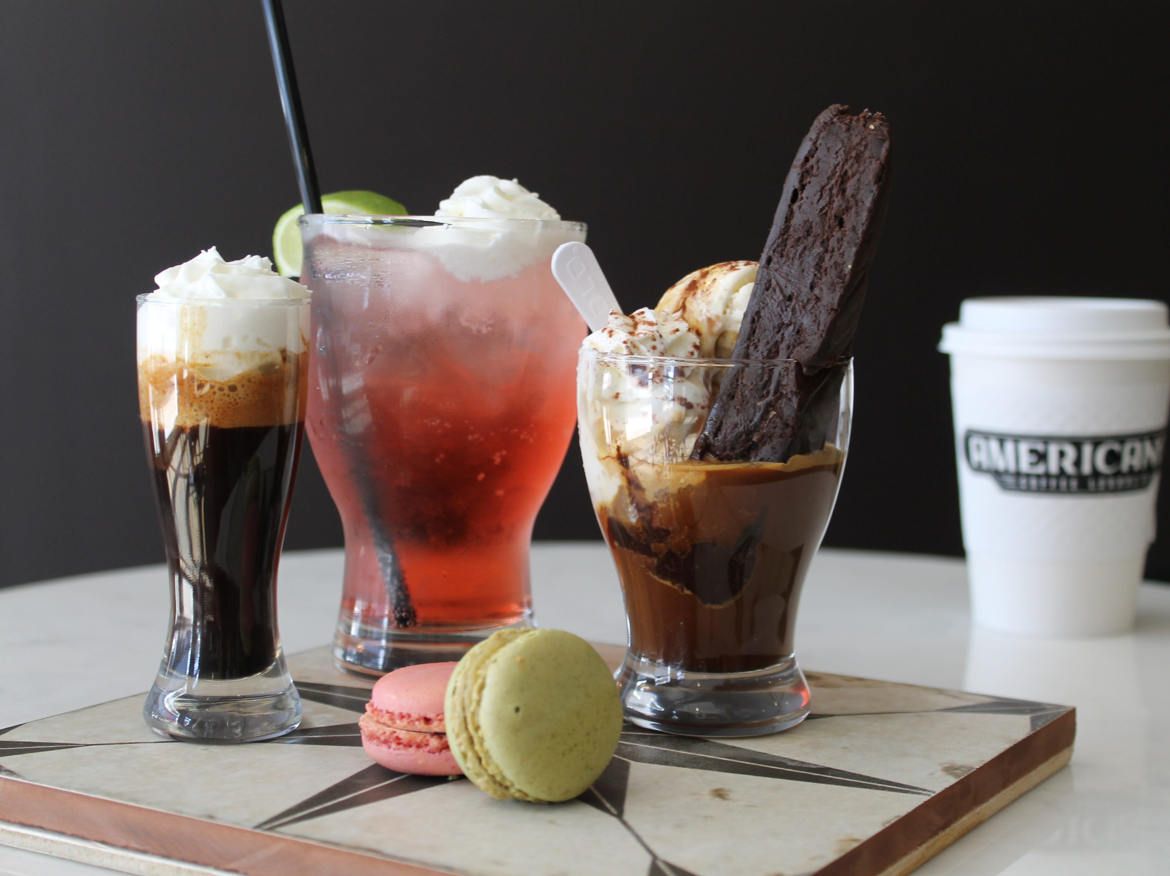 Americano Coffee Lounge offers an array of desserts.