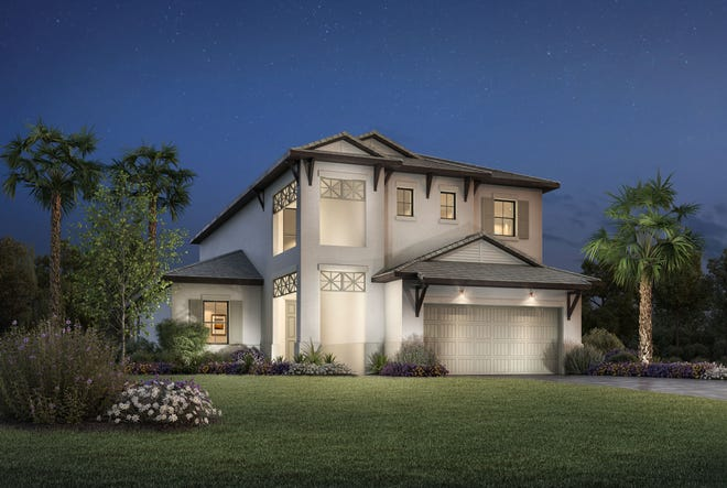 The Stefano Island Colonial at Palazzo at Naples features an open floor plan, gourmet kitchen and private master suite.