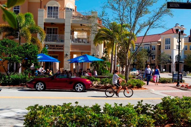The town of Ave Maria offers new single-family homes, a Town Center, sport fields and golf.