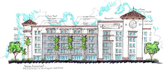 Miromar Hotel Sketch