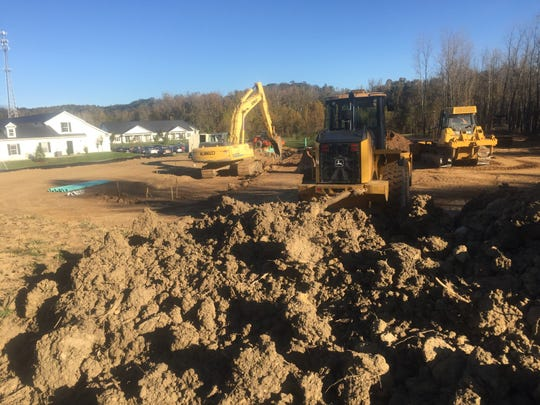 Site prep was underway Oct. 24 on the area east of Middleton where 14 new senior independent-living apartments are to be built.