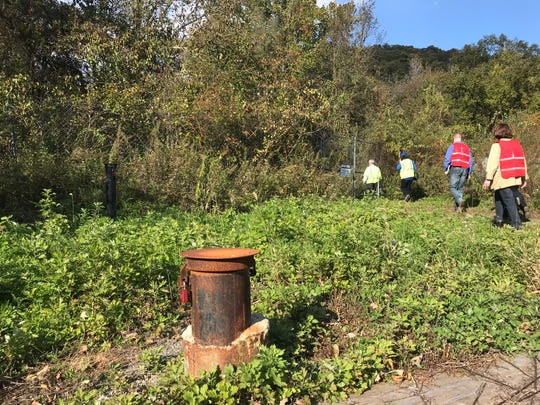 Federal Environmental Protection Agency and New Jersey Department of Environmental Protection officials went on a rare Oct. 23, 2018 tour of the fenced-off Ringwood Mines Superfund.