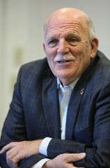 James Ahearn is a candidate for Bergen County Sheriff.  He is shown here during a Editorial Board meeting at The Record. Wednesday, October 24, 2018