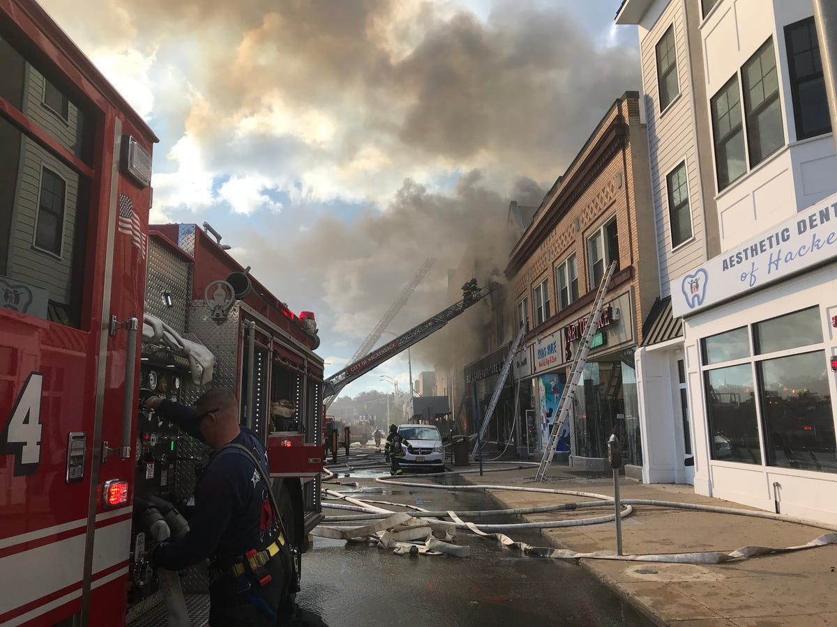 Superb One Injured In Fire At Hackensack Nj Furniture Store Download Free Architecture Designs Scobabritishbridgeorg
