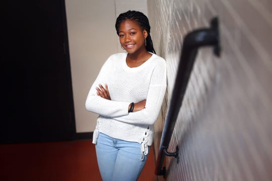 Indira Summerville, a senior at Morristown High School