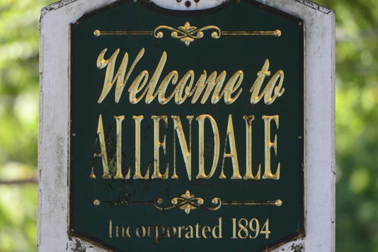 Allendale welcome sign