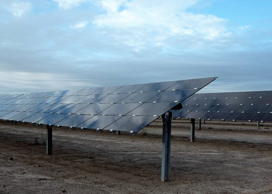 the first major solar array, encompassing 42 acres, opened Oct. 19 on Holloman Air Force Base, N.M. Over 1,300 facilities on-base will be powered by the array, meeting 50 percent of the base's summer day-time demand and 100 percent of the winter day-time demand.
