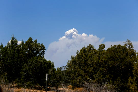 Smoke from the 416 Fire north of Durango, Colo., negatively impacted air quality in the Four Corners region this summer.