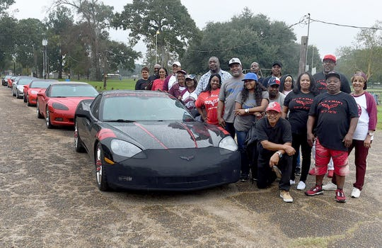 H-Town Vettes, a Corvette club from Houston, gets ready to lead the parade that kicks off the week-end celebration of the J.S. Clark High School's annual alumni reunion.