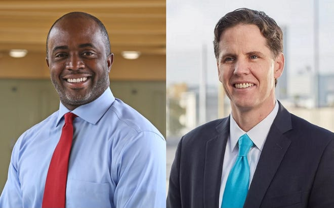 Superintendent candidates Tony Thurmond and Marshall Tuck.