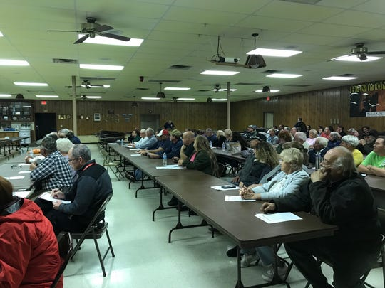 Reading Township residents attend a special township meeting on Oct. 18, 2018 at the Hampton Fire Hall to discuss Hampton merging with United Hook and Ladder.
