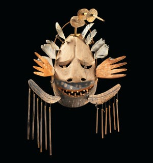 """Yup'ik mask on display at the Heard Museum in """"Yua: Henri Matisse and the Inner Arctic Spirit."""""""