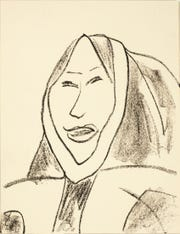 "This drawing of a Yup'ik woman is featured in the Heard Museum exhibit ""Yua: Henri Matisse and the Inner Arctic Spirit."""