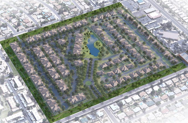 A rendering of possible development in the place of Glen Lakes Golf Course in Glendale