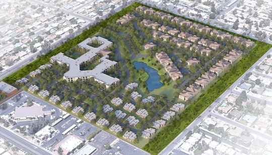 A rendering of possible redevelopment of Glen Lakes Golf Course in Glendale.