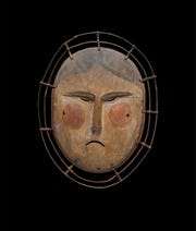 "One of about 50 Yup'ik mask on display at the Heard Museum in ""Yua: Henri Matisse and the Inner Arctic Spirit."""