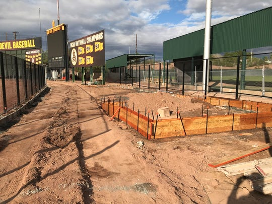 New bullpens, including this one for Arizona State baseball, are under construction at Phoenix Municipal Stadium.