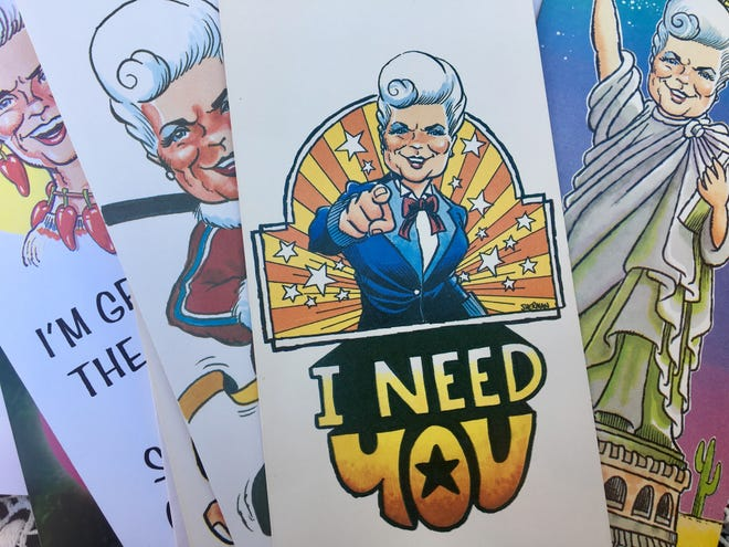 In 1986, then-Secretary of State Rose Mofford sent out a card encouraging people to vote.