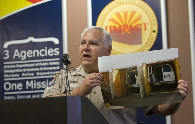 Arizona Automobile Theft Authority chief Fred Zumbo (seen in 2010, before his retirement from the Arizona Department of Public Safety) says the state's practice of sweeping money from the agency to create Gov. Doug Ducey's Border Strike Force has exacerbated the existing frustration about the Legislature's limits on spending.