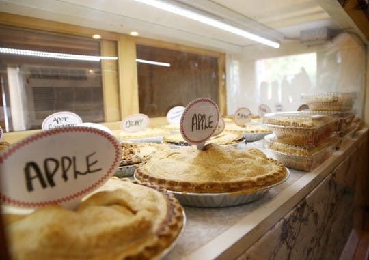 Pies in the display case at the Barton Orchards Farm Stand and Bakery in LaGrange on October 24, 2018.
