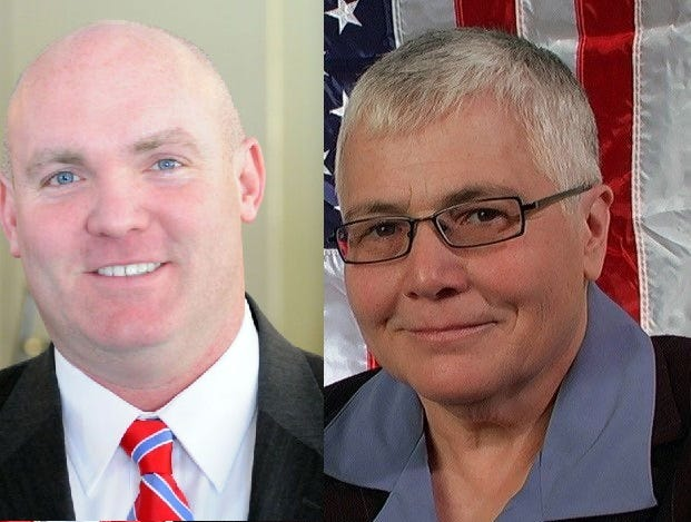 Assemblyman Kieran Michael Lalor and challenger Laurette Giardino are running for state Assembly District 105.