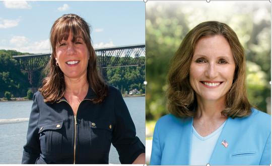 State Sen. Sue Serino, R-Hyde Park, and Karen Smythe.